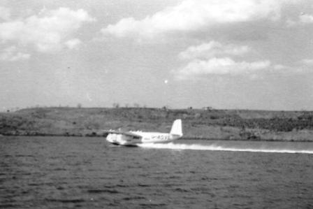 flying boat taking off